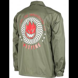 SPITFIRE GIACCA UOMO KTUL WINDBREAKER ARMY GREEN/RED/WHITE