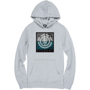 ELEMENT FELPA BAMBINO REROUTE HOOD BOY GREY HEATHER