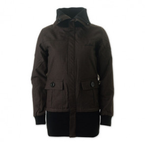 IRIEDAILY GIACCA DONNA LONG CUT SHEP JACKET DARK BROWN