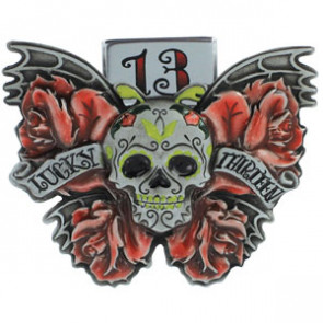 LUCKY 13 DEATH FLY BELT BUCKLE