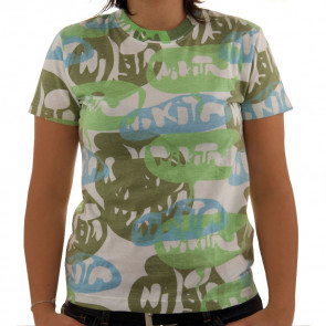 NIKITA T-SHIRT DONNA LUCY IN THE SKY WHITE/TEA GREEN