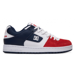 DC SCARPE UOMO MANTECA WHITE NAVY RED