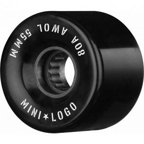 RUOTE LONGBOARD MINI LOGO A.W.O.L. BLACK 59MM 80A 4PK