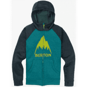 BURTON FELPA BAMBINO BOY OAK FULL ZIP GREEN BLUE SLATE HEATHER