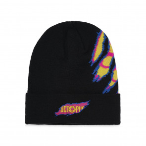 OCTOPUS BERRETTO RIPPER LOGO BEANIE EMBROIDERED FOLD BLACK