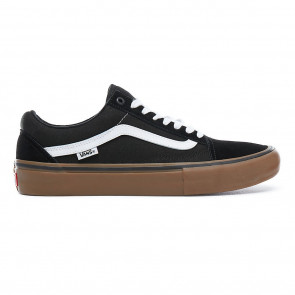 VANS SCARPE UOMO DONNA OLD SKOOL PRO BLACK WHITE GUM