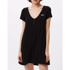 OBEY VESTITO DONNA  PEDAL DRESS BLACK