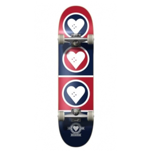 """THE HEART SUPPLY SKATEBOARD COMPLETO SQUAD BLUE RED 7,75"""" X 31,2"""""""