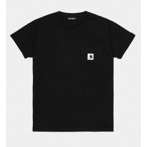 CARHARTT WIP T-SHIRT DONNA W' S/S POCKET BLACK