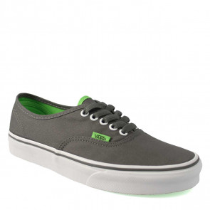 VANS SCARPE UOMO/DONNA AUTHENTIC (POP) CHARCOAL GRAY/GREEN