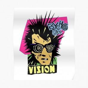 VISION STREET WEAR FELPA UOMO PSYCHO STICK NEON PINK