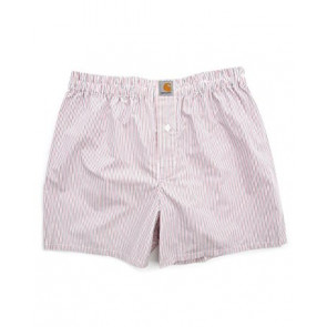 CARHARTT BOXER SHORT RED ADDISON STRIPE
