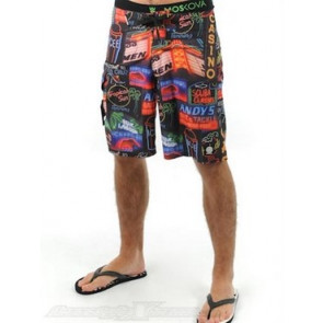 SANTA CRUZ BOARDSHORT UOMO NEON CRUZ BLACK