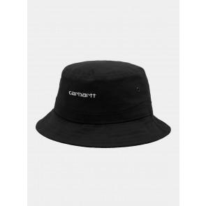 CARHARTT WIP CAPPELLO PESCATORE SCRIPT BUCKET HAT BLACK WHITE
