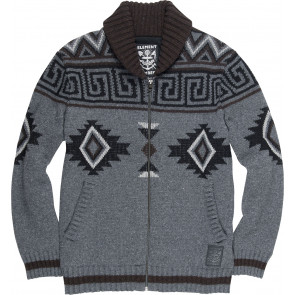 ELEMENT MAGLIONE UOMO SETTLER CARDIGAN MID GREY HEATHER