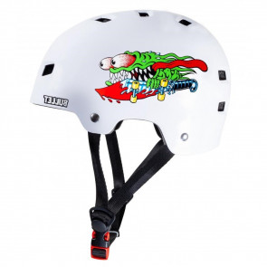 BULLET X SANTA CRUZ CASCO SLASHER YOUTH GLOSS WHITE
