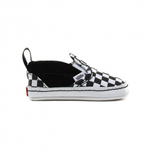 VANS SCARPE NEONATO SLIP ON V CRIB (CHECKERBOARD) BLACK/TRUE WHITE