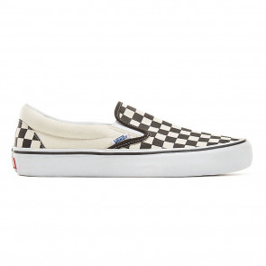 VANS SCARPE UOMO SLIP ON PRO BLACK WHITE CHECKERBOARD