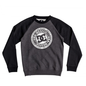 DC FELPA BAMBINO CIRCLE STAR BLACK/CHARCOAL HEATHER