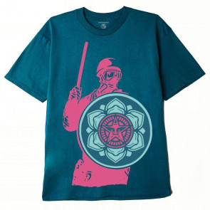 OBEY T-SHIRT UOMO RIOT COP PEACE SHIELD SUSTAINABLE SHADED SPRUCE