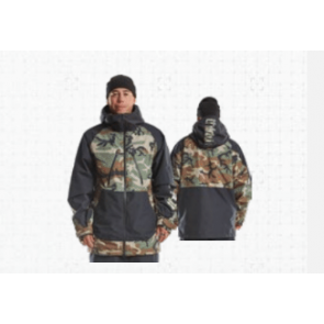 THIRTYTWO GIACCA SNOWBOARD UOMO TM JACKET BLACK CAMO
