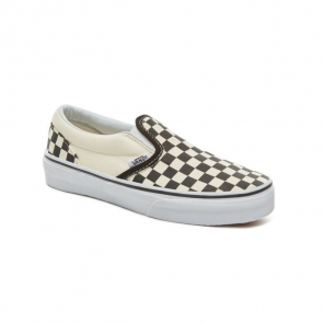 VANS SCARPE BAMBINO CLASSIC SLIP ON BLACK AND WHITE CHECKER