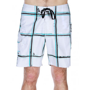 VOLCOM BOARDSHORT UOMO MAGURO PLAID WHITE