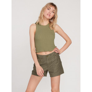VOLCOM SHORT DONNA ARMY WHALER SHORT ARMY GREEN COMBO