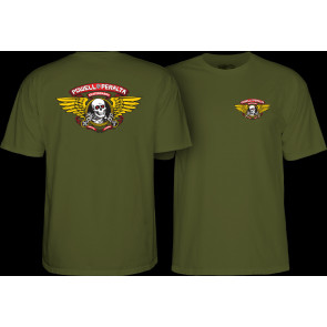 POWELL PERALTA T-SHIRT UOMO WINGED RIPPER MILITARY GREEN