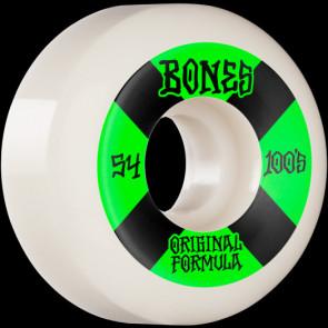 RUOTE SKATE BONES 100's WHITE 54 MM V5
