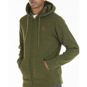 OBEY FELPA UOMO CONWAY ZIP HOODED FLEECE ARMY
